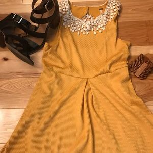 Free People Yellow Mustard Sleeveless Dress